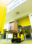Rent a warehouse - a forklift service is provided