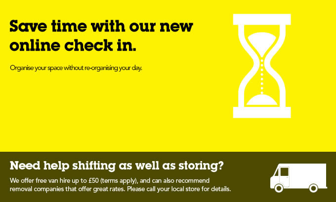Introducing Check in online – another first for Big Yellow Self Storage!